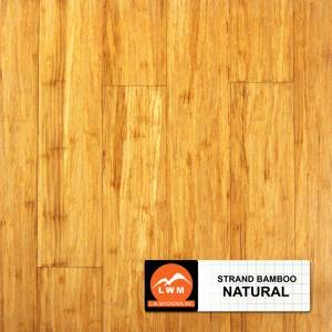 Smooth Click Strand Bamboo Collection by LW Mountain Engineered Hardwood 5-1/10 in. Bamboo - Natural