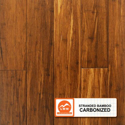 "Smooth Strand Bamboo T&G Collection by LW Mountain Solid Hardwood 3-3/4"" Bamboo - Carbonized"