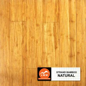 "Smooth Click Strand Bamboo Collection by LW Mountain Engineered Hardwood 3-3/4"" Bamboo - Natural"
