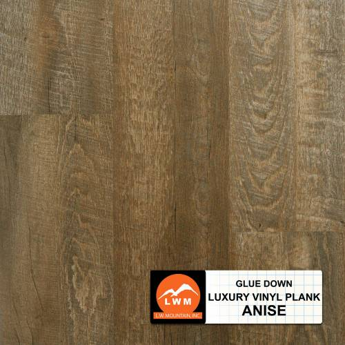 Commercial Dry Back LVP Collection by LW Mountain Vinyl Plank 6x48 in. - Anise