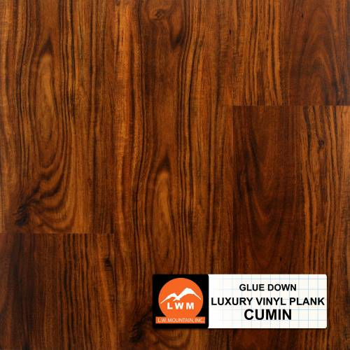 Commercial Dry Back LVP Collection by LW Mountain Vinyl Plank 6x48 in. - Cumin