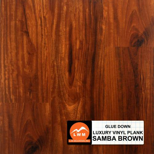 Commercial Dry Back LVP Collection by LW Mountain Vinyl Plank 6x48 in. - Samba Brown