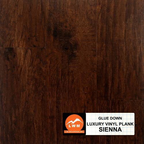 Commercial Dry Back LVP Collection by LW Mountain Vinyl Plank 6x48 Sienna