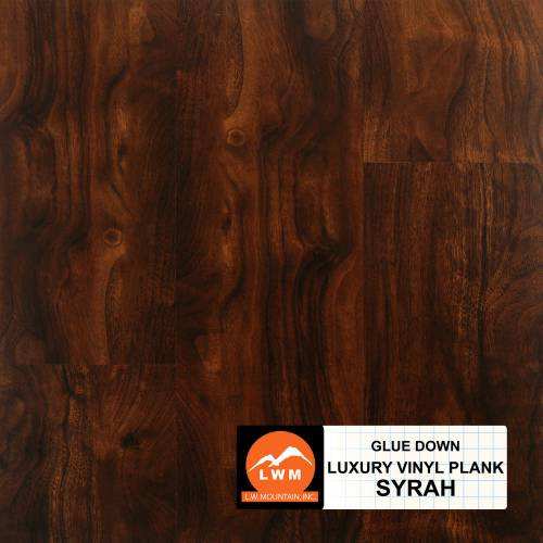Commercial Dry Back LVP Collection by LW Mountain Vinyl Plank 6x48 in. - Syrah