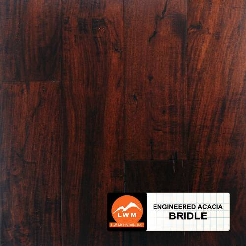Distressed Small Leaf Acacia Collection by LW Mountain Engineered Hardwood 5 in.  Acacia - Bridle