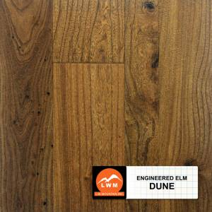 "Hand-Scraped Elm Collection by LW Mountain Engineered Hardwood 3"", 5"", 6-1/2"" Elm - Dune"