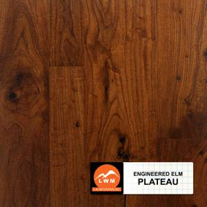 Multi-Width Eng. Distressed Elm by LW Mountain Engineered Hardwood Plateau