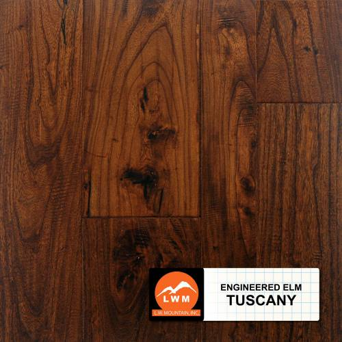 Multi-Width Eng. Distressed Elm by LW Mountain Engineered Hardwood Tuscany