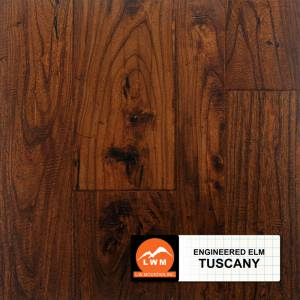 "Hand-Scraped Elm Collection by LW Mountain Engineered Hardwood 3"", 5"", 6-1/2"" Elm - Tuscany"