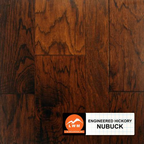 Hand-Scraped Hickory Collection by LW Mountain Engineered Hardwood Hickory - Nubuck