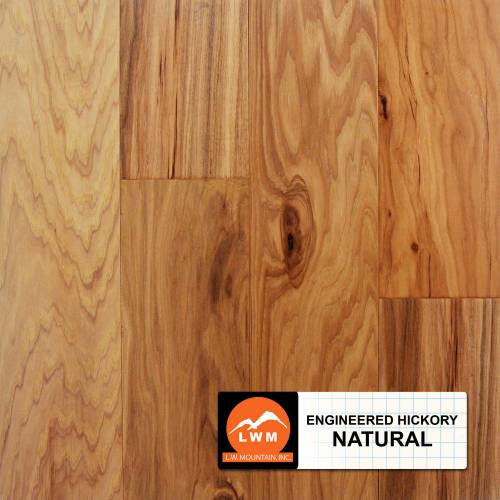 Hand-Scraped Hickory Collection by LW Mountain Engineered Hardwood 5 in. Hickory - Natural