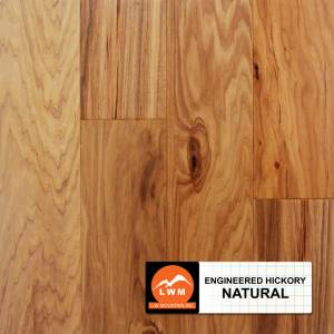 """Hand-Scraped Hickory Collection by LW Mountain Engineered Hardwood 5"""" Hickory - Natural"""