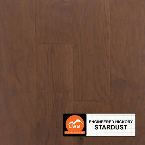 Hand-Scraped Hickory Collection by LW Mountain Engineered Hardwood 5 in. Hickory - Stardust