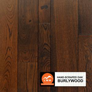 "Hand-Scraped Oak Collection by LW Mountain Solid Hardwood 2-1/4"", 3-1/4"", 4-1/4"" Oak - Burlywood"