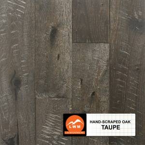 Hand-Scraped Oak Collection by LW Mountain Solid Hardwood 4-15/16 in. Oak - Taupe