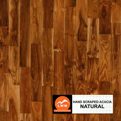Hand-Scraped Small Leaf Acacia Collection by LW Mountain Solid Hardwood 4-3/4 in. Acacia - Natural