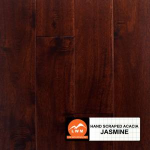 """Hand-Scraped Wide Leaf Acacia Collection by LW Mountain Solid Hardwood 4-3/4"""" Acacia - Jasmine"""
