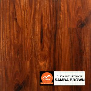 LVP Click Collection by LW Mountain Vinyl Plank 7x48 Samba Brown