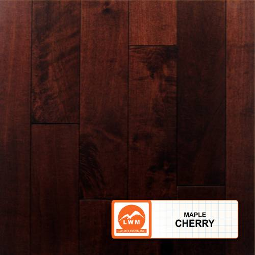 Smooth Maple Collection by LW Mountain Solid Hardwood 3-1/2 in. Maple - Cherry