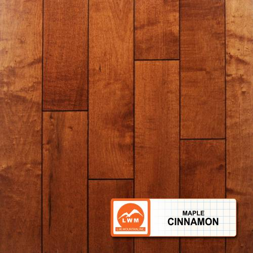 "Smooth Maple Collection by LW Mountain Solid Hardwood 3-1/2"" Maple - Cinnamon"
