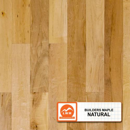 """Smooth Maple Collection by LW Mountain Solid Hardwood 3-1/2"""" Maple - Builder's Natural"""