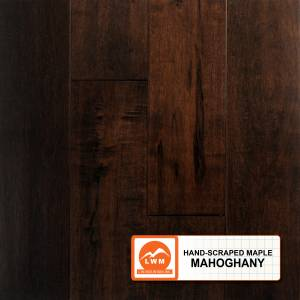 Hand-Scraped Maple Collection by LW Mountain Solid Hardwood 4-15/16 in. Maple - Mahogany