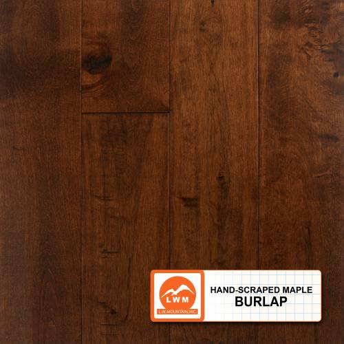 "Hand-Scraped Maple Collection by LW Mountain Solid Hardwood 4-15/16"" Maple - Burlap"