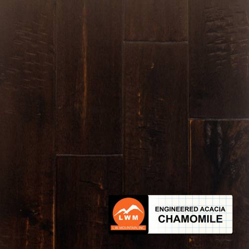 Wide Leaf Acacia Collection by LW Mountain Engineered Hardwood 5 in. Acacia - Chamomile