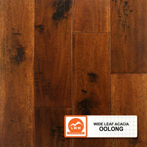 Wide Leaf Acacia Collection by LW Mountain Engineered Hardwood 5 in. Acacia - Oolong
