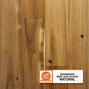 Wide Leaf Acacia Collection by LW Mountain Engineered Hardwood 5 in. Acacia - Natural