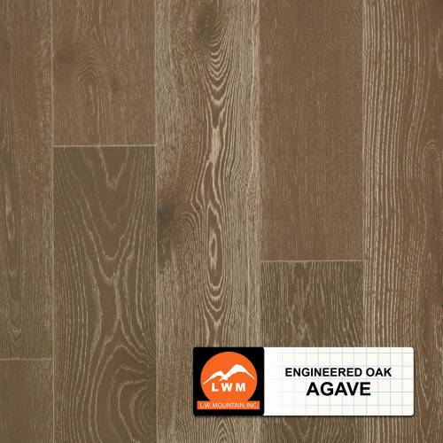 "Long Strip Oak Collection by LW Mountain Engineered Hardwood 7-1/2"" Oak - Agave"