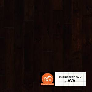 "Long Strip Oak Collection by LW Mountain Engineered Hardwood 7-1/2"" Oak - Java"