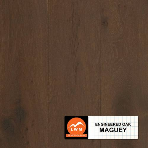 "Long Strip Oak Collection by LW Mountain Engineered Hardwood 7-1/2"" Oak - Maguey"
