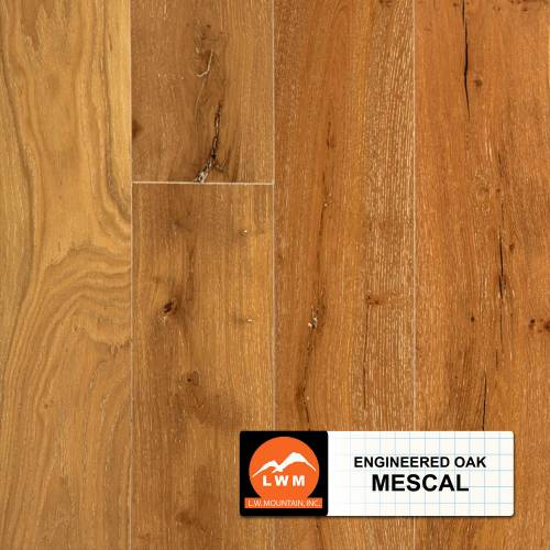 "Long Strip Oak Collection by LW Mountain Engineered Hardwood 7-1/2"" Oak - Mescal"