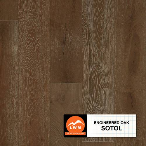 "Long Strip Oak Collection by LW Mountain Engineered Hardwood 7-1/2"" Oak - Sotol"
