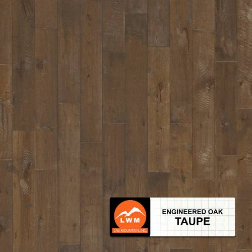 Long Strip Oak Collection by LW Mountain Engineered Hardwood 7-1/2 in. Oak - Taupe