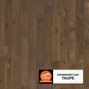 "Long Strip Oak Collection by LW Mountain Engineered Hardwood 7-1/2"" Oak - Taupe"