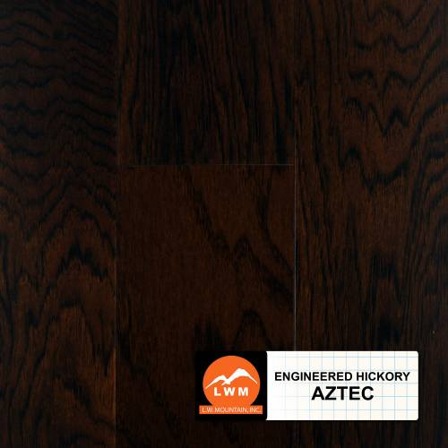 Smooth Hickory Collection by LW Mountain Engineered Hardwood 5 in. Hickory - Aztec