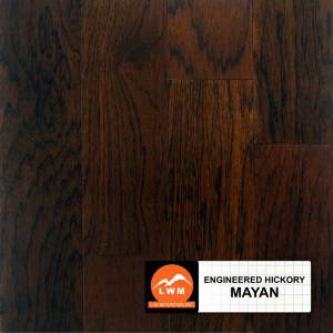 """Smooth Hickory Collection by LW Mountain Engineered Hardwood 5"""" Hickory - Mayan"""