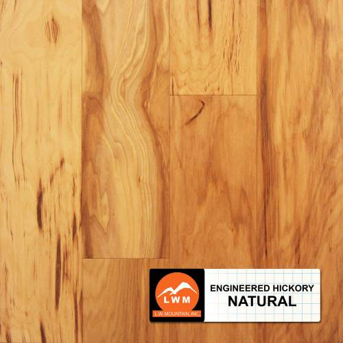 Smooth Hickory Collection by LW Mountain Engineered Hardwood 5 in. Hickory - Natural