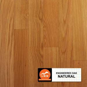 """Smooth Oak Collection by LW Mountain Engineered Hardwood 3.7"""" Oak - Natural"""