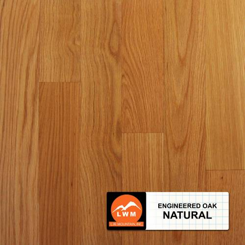 "Smooth Oak Collection by LW Mountain Engineered Hardwood 3.7"" Oak - Natural"