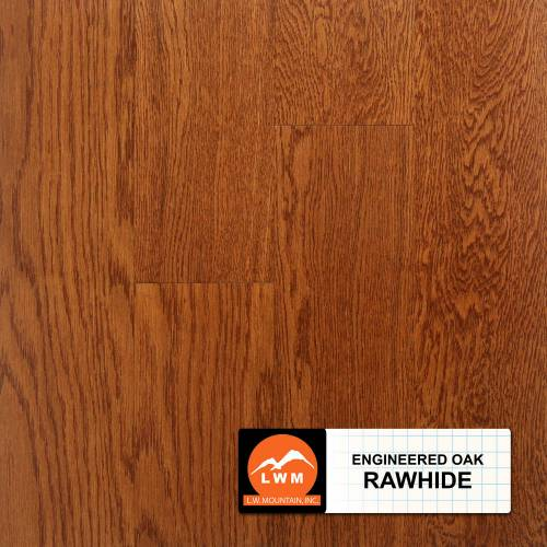 "Smooth Oak Collection by LW Mountain Engineered Hardwood 3.7"" Oak - Rawhide"