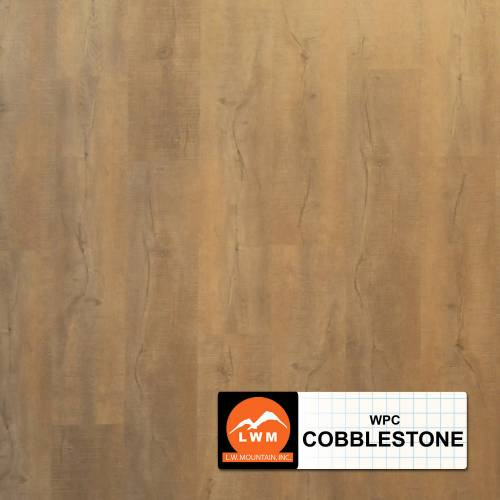WPC Click Collection by LW Mountain Vinyl Plank 7x48 in. - Cobblestone