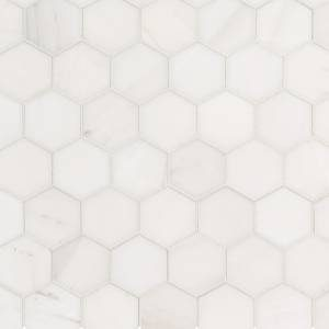 Bianco Dolomite Collection by MSI Stone Mosaic Tile 2x2 Hexagon