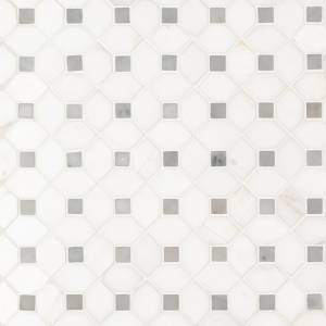 Bianco Dolomite Collection by MSI Stone Mosaic Tile Dotty