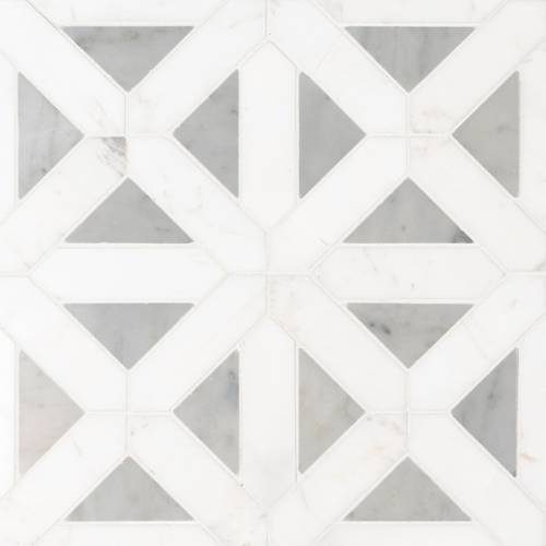 Bianco Dolomite Collection by MSI Stone Mosaic Tile Geometrica