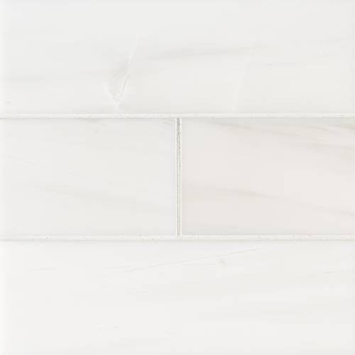 Bianco Dolomite Collection by MSI Stone Mosaic Tile 4x12 Subway