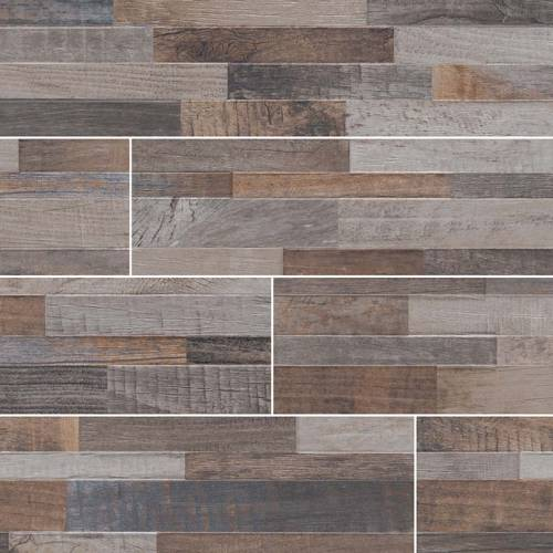Dekora Porcelain Panel by MSI Stone 6x24 Keywood Multicolor