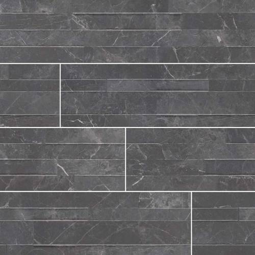 Dekora Porcelain Panel by MSI Stone 6x24 Midnight Mount